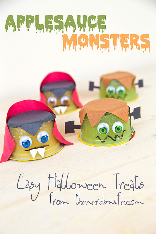 Applesauce Monsters Healthy Halloween Treats