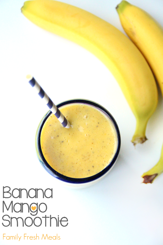 Banana Mango Smoothie by FamilyFreshMeals.com