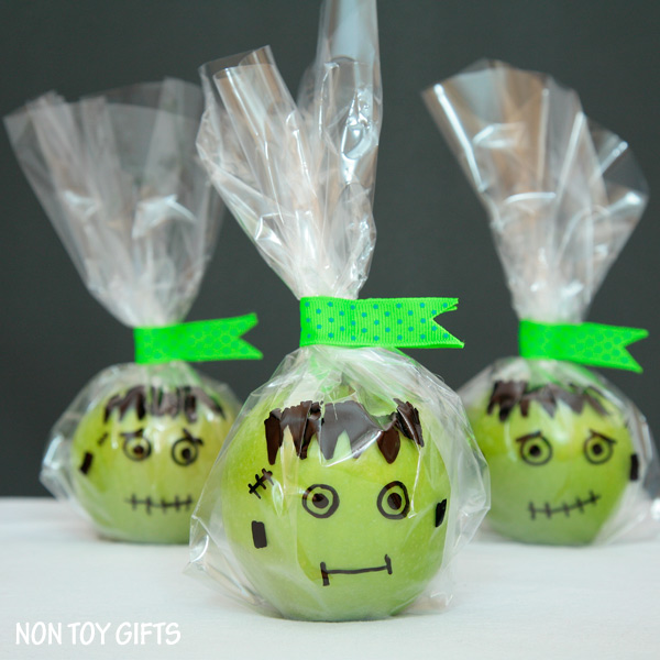 Frankenstein Apple Healthy Halloween Treats