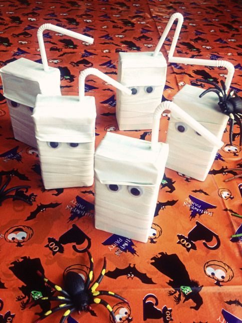 Mummy Juicebox Healthy Halloween Treats